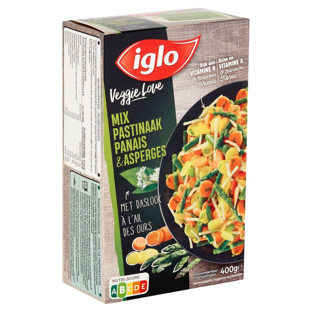 Iglo Veggie Love Pastinaak en Asperges Mix met Daslook 400 g