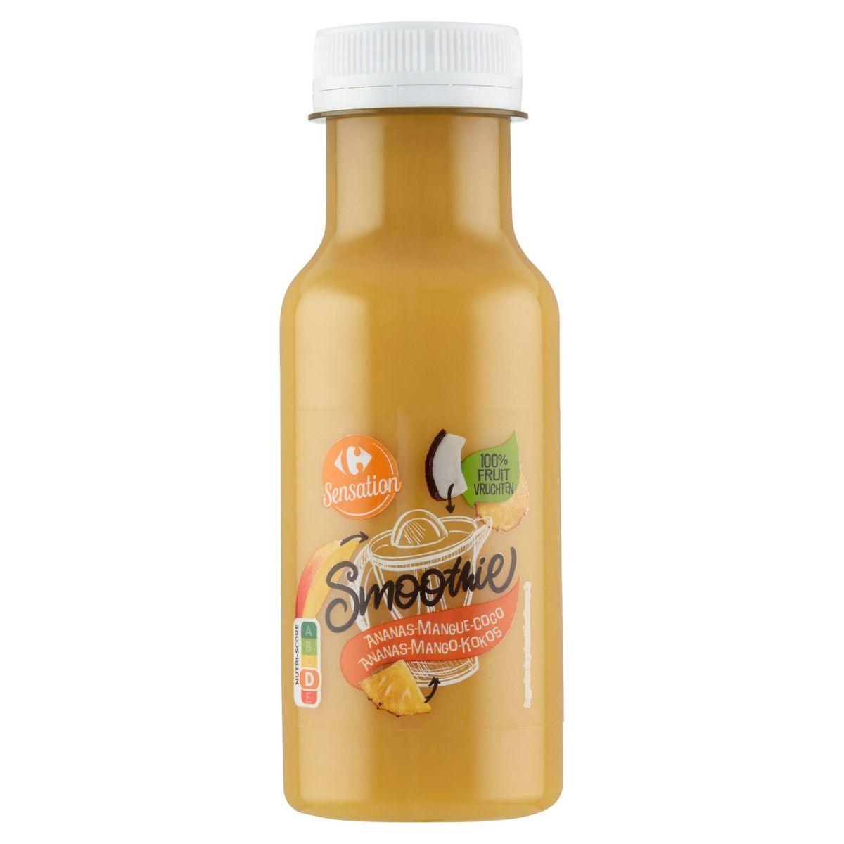 Carrefour Sensation Smoothie Ananas-Mango-Kokos 250 ml