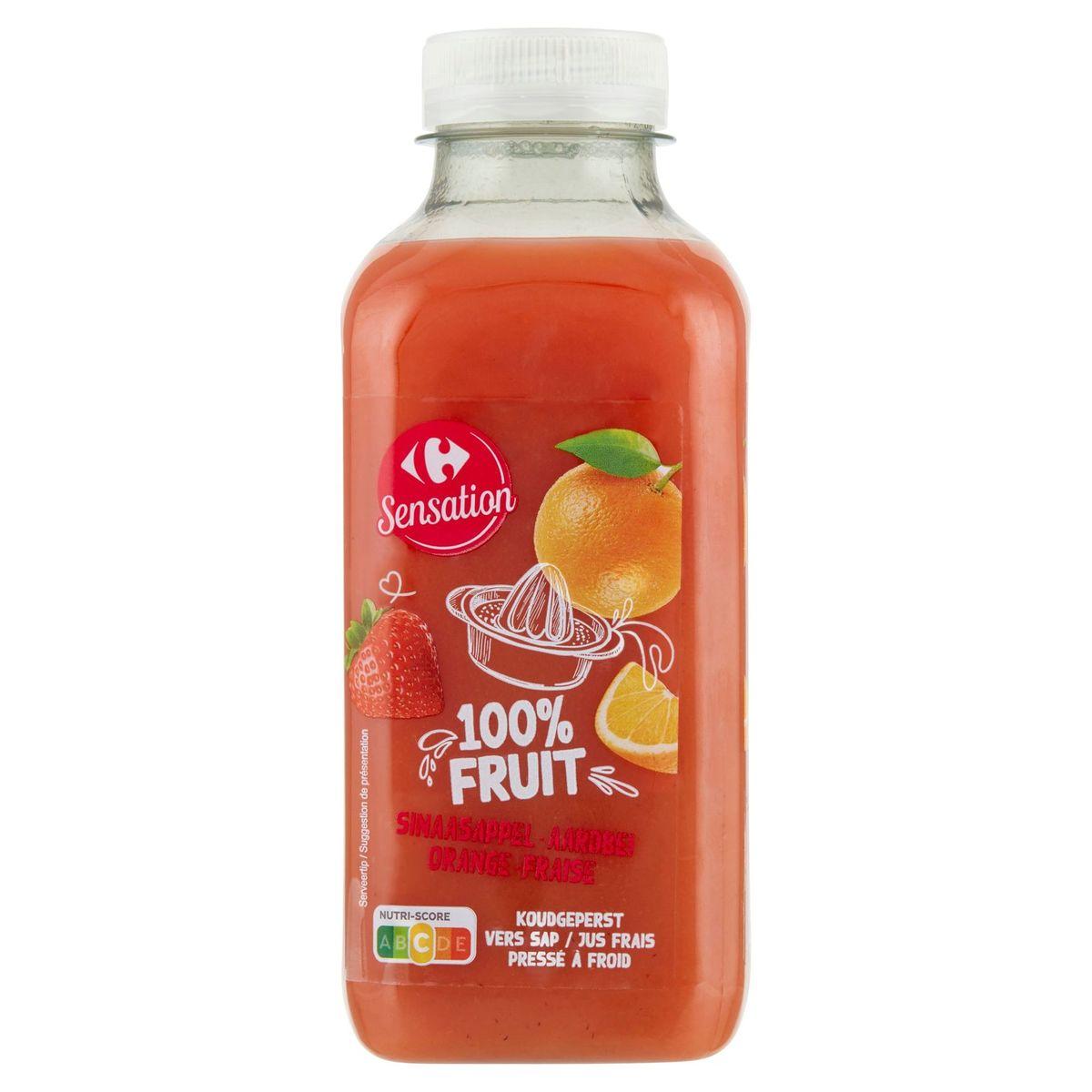 Carrefour Orange - Fraise Jus Frais 500 ml