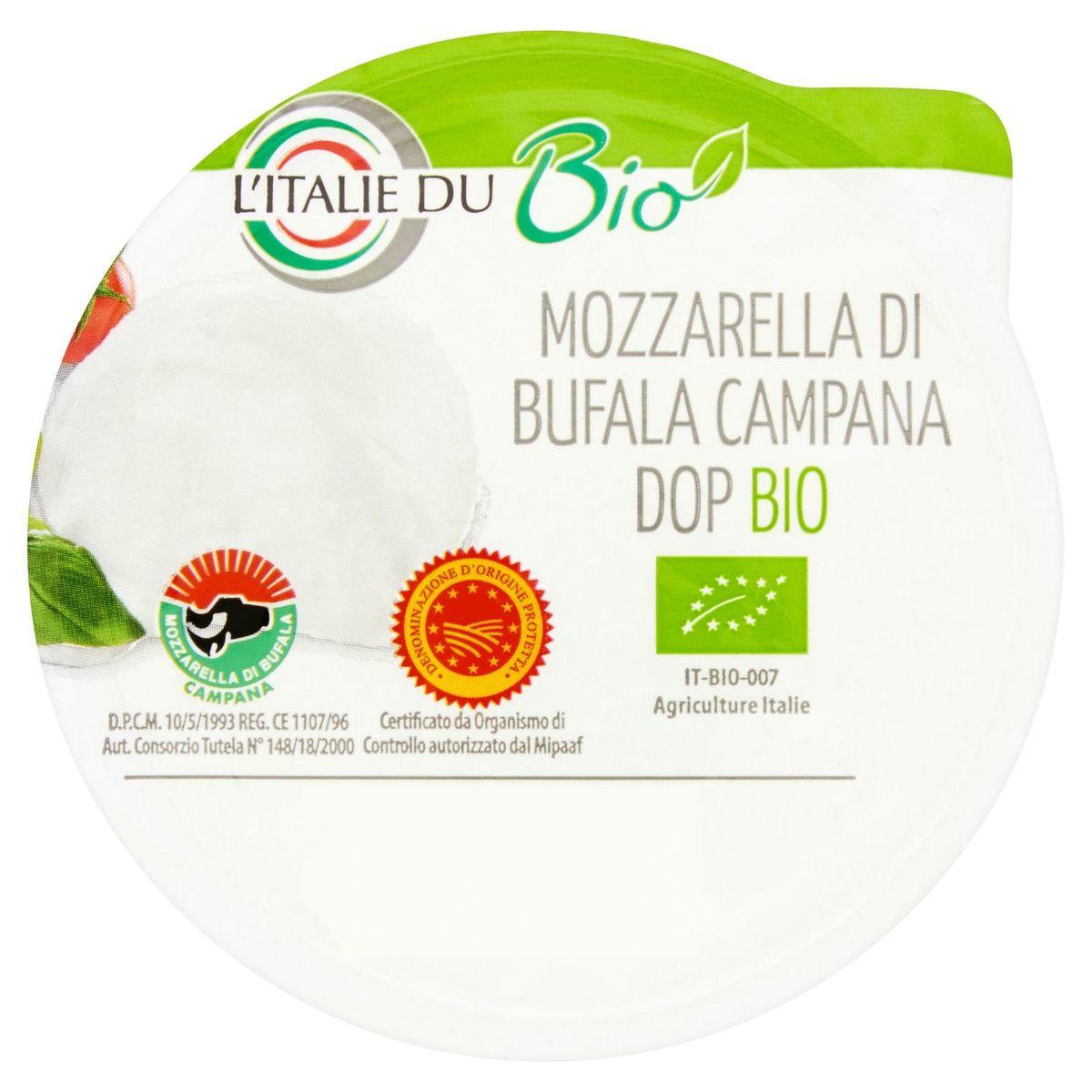 L'Italie du Bio Mozzarella di Bufala Campana Dop Bio 125 g