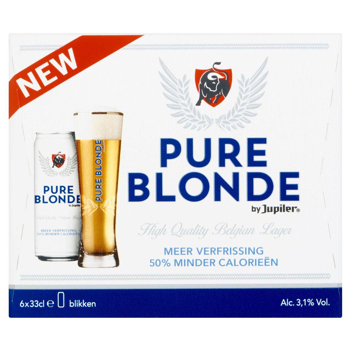 Jupiler Pure Blonde Canettes 6 x 33 cl