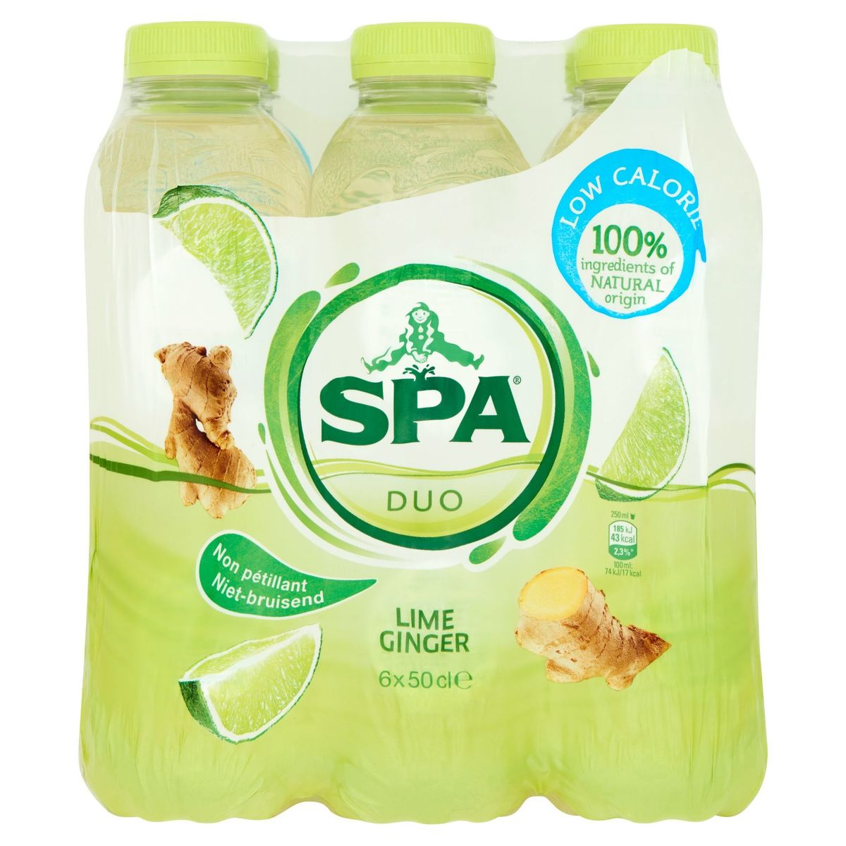 Spa Duo Limoen - Gember Niet-Bruisend PET 6 x 50 cl