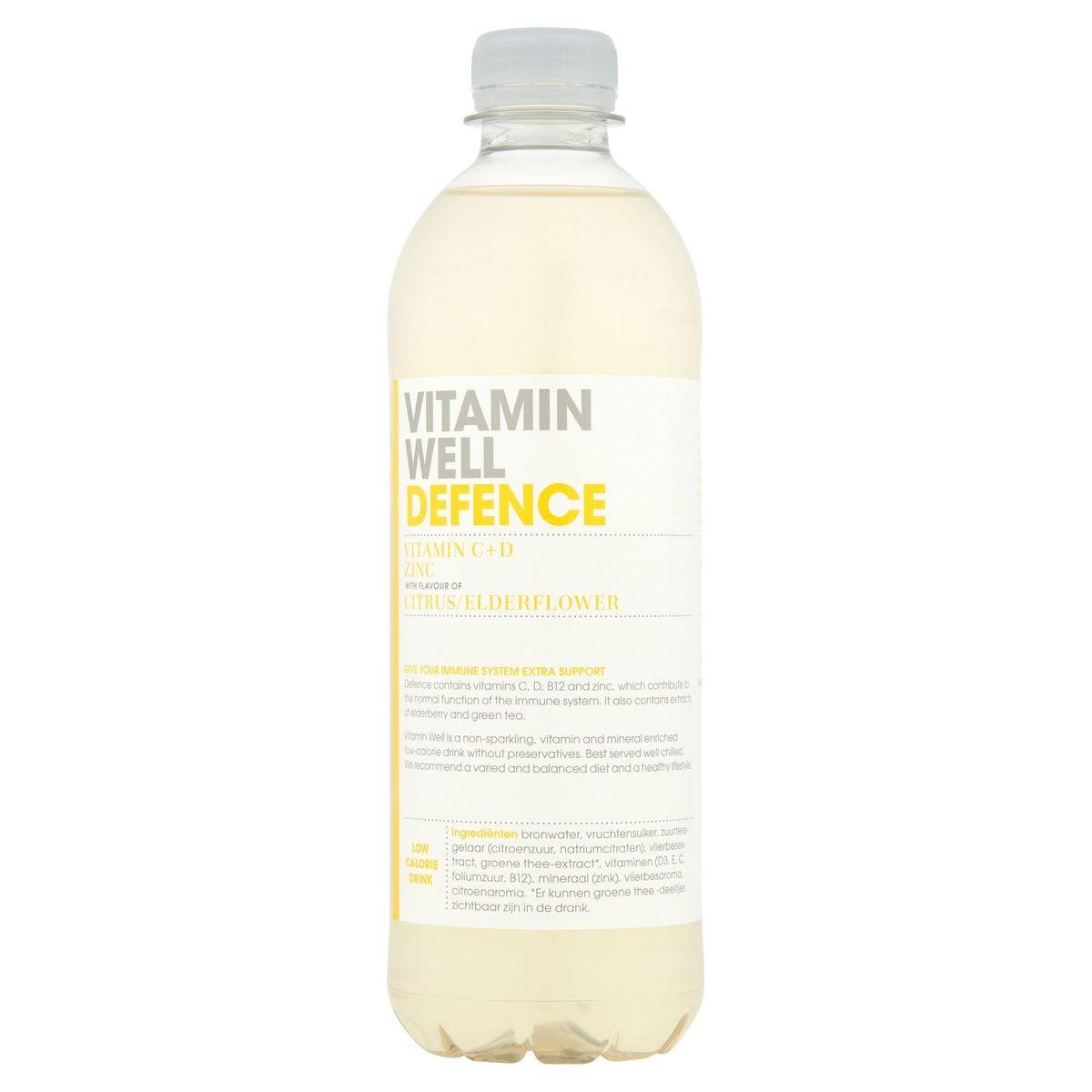 Vitamin Well Defence Vitamin C+D Zinc Citrus/Elderflower 500 ml