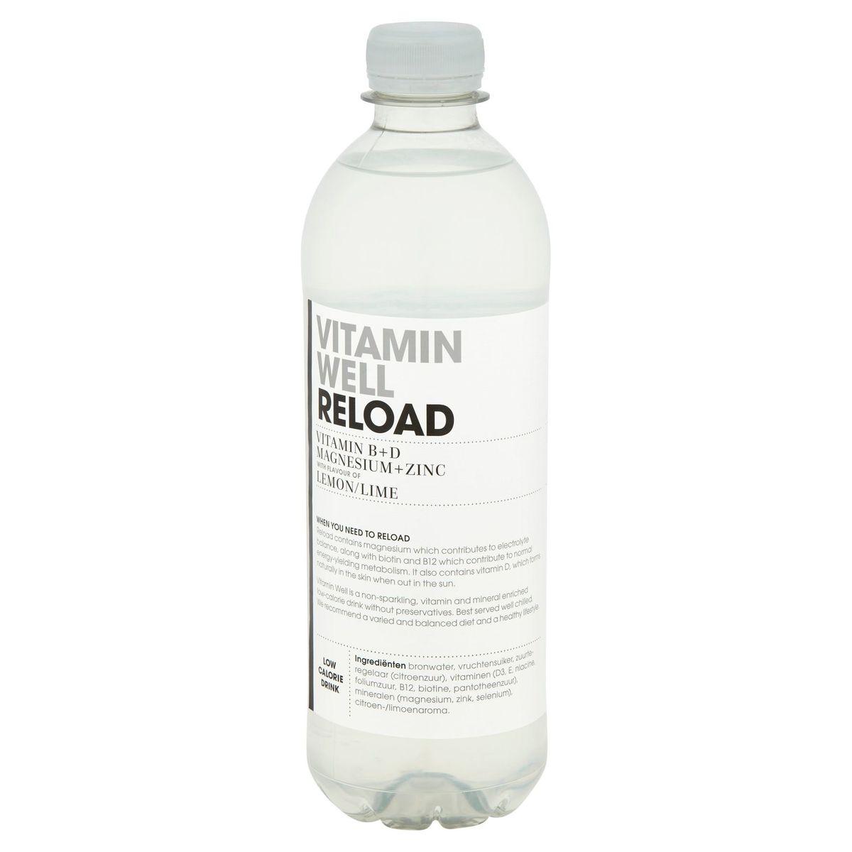 Vitamin Well Reload Vitamin B+D Magnesium+Zinc Lemon/Lime 500 ml