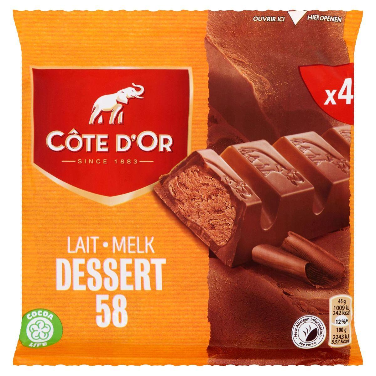 Côte d'Or Lait Dessert 58 4 x 45 g