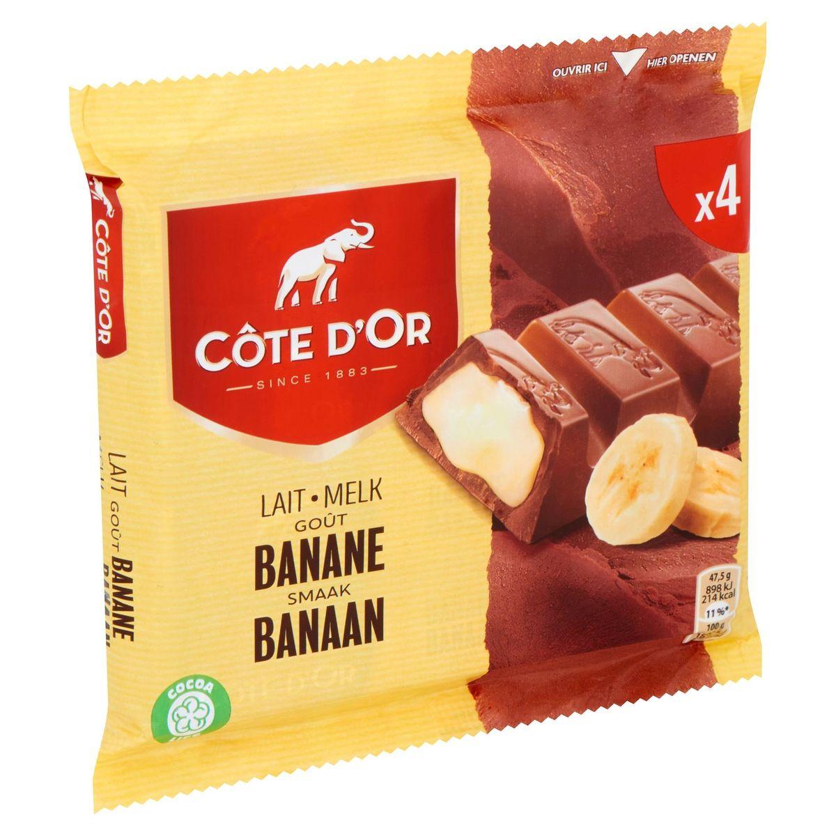 Côte d'Or Lait Goût Banane 4 x 47.5 g