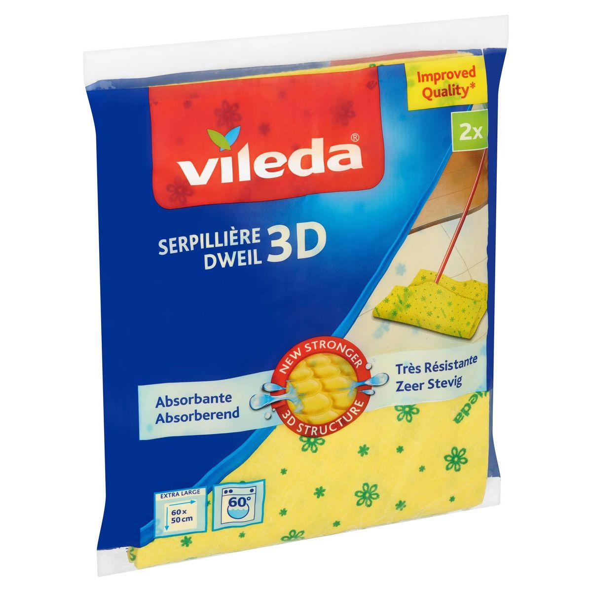 Vileda Dweil 3D 2 Stuks