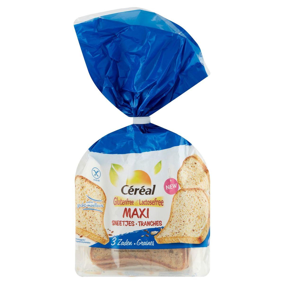 Céréal Glutenfree & Lactosefree Maxi Tranches 3 Graines 7 Pièces 350 g