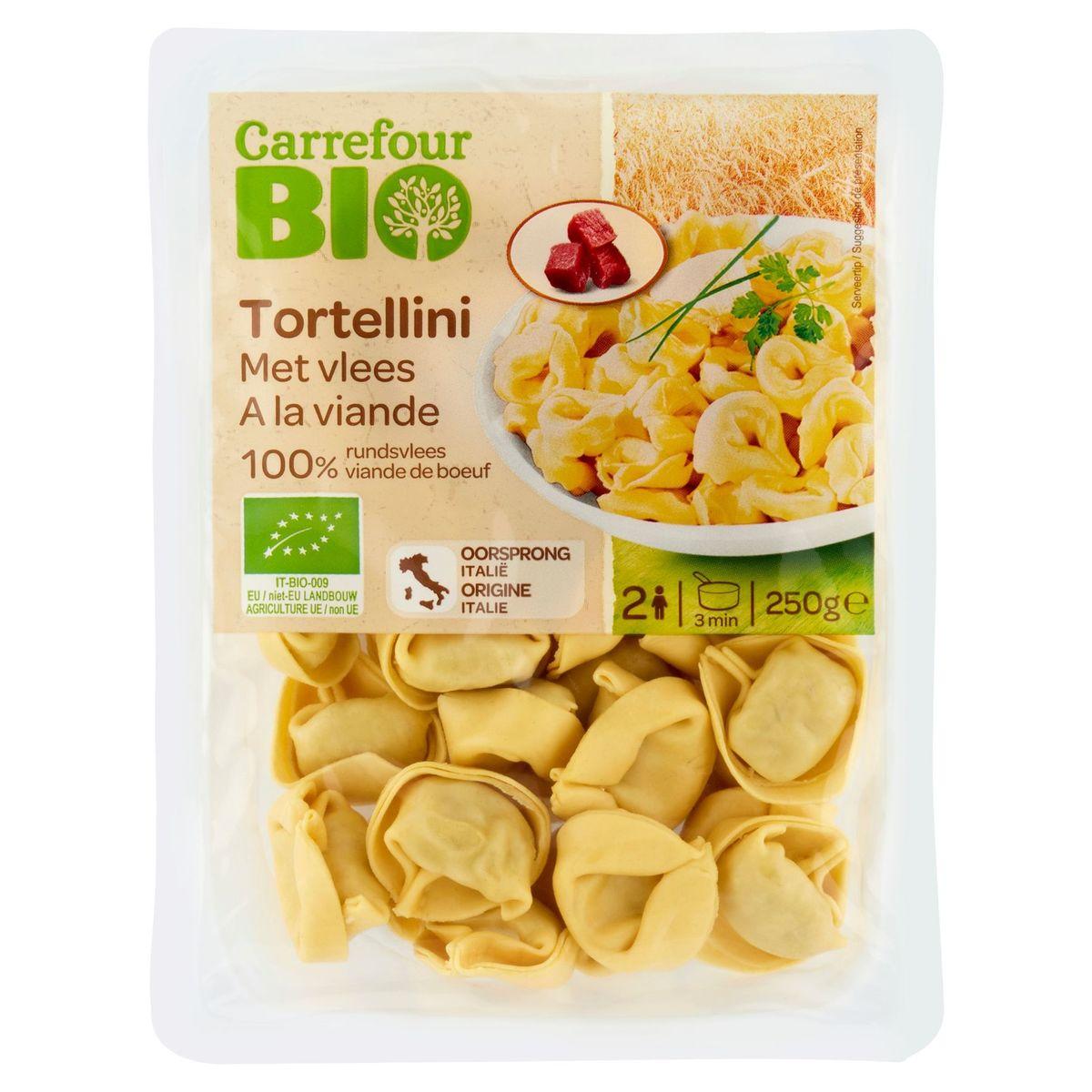 Carrefour Bio Tortellini met Vlees 250 g