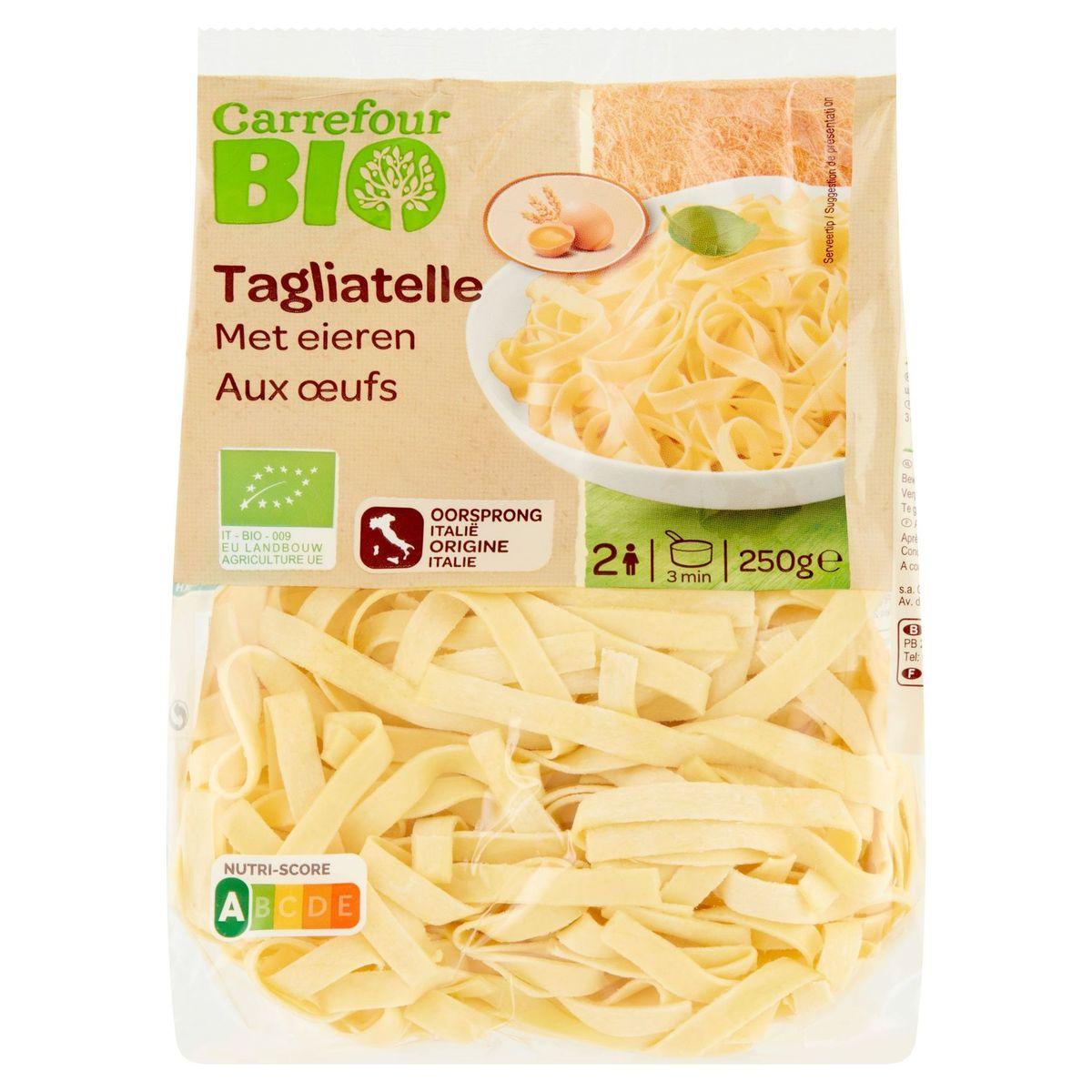 Carrefour Bio Tagliatelle aux Œufs 250 g