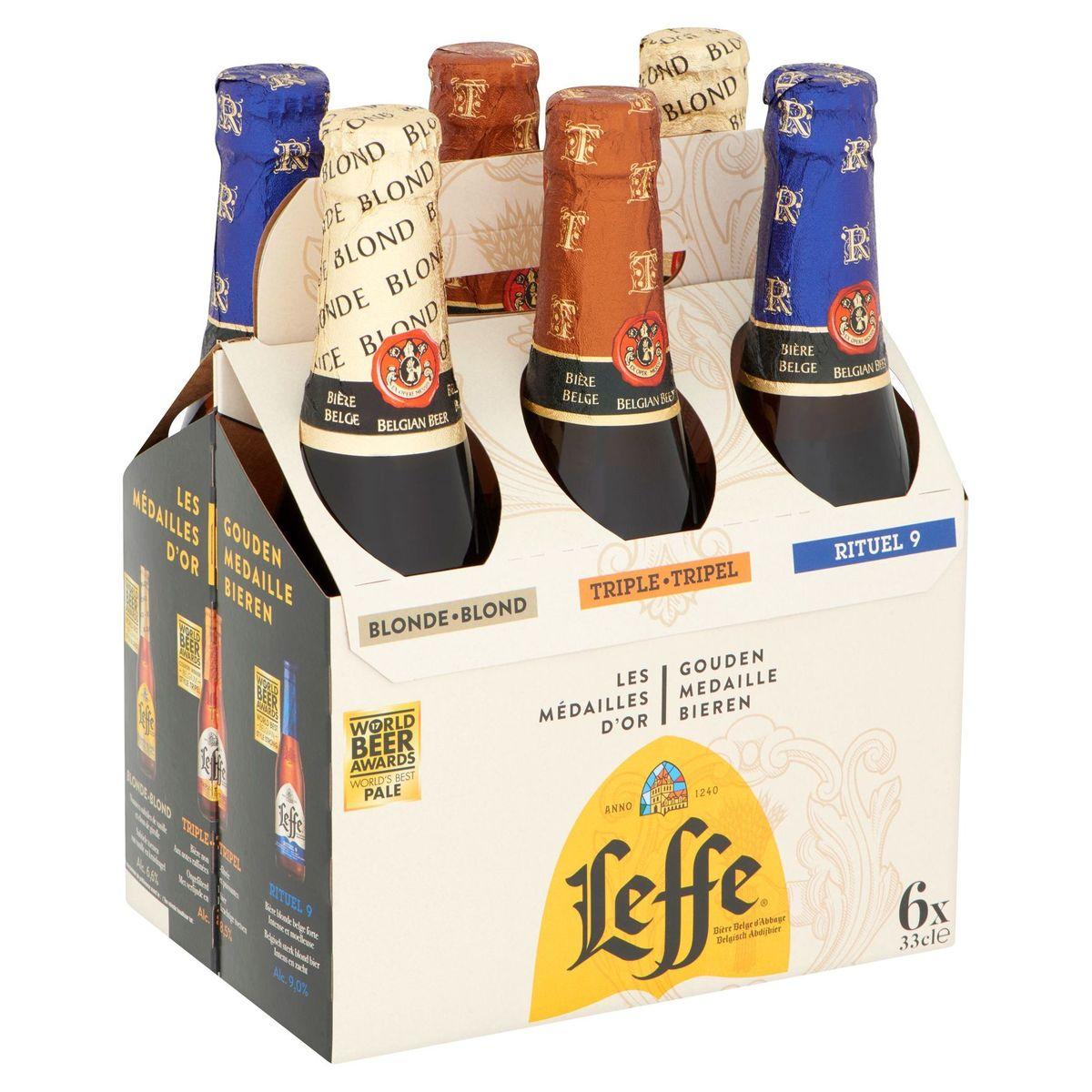 Leffe Bière Belge d'Abbaye Bouteilles 6 x 33 cl