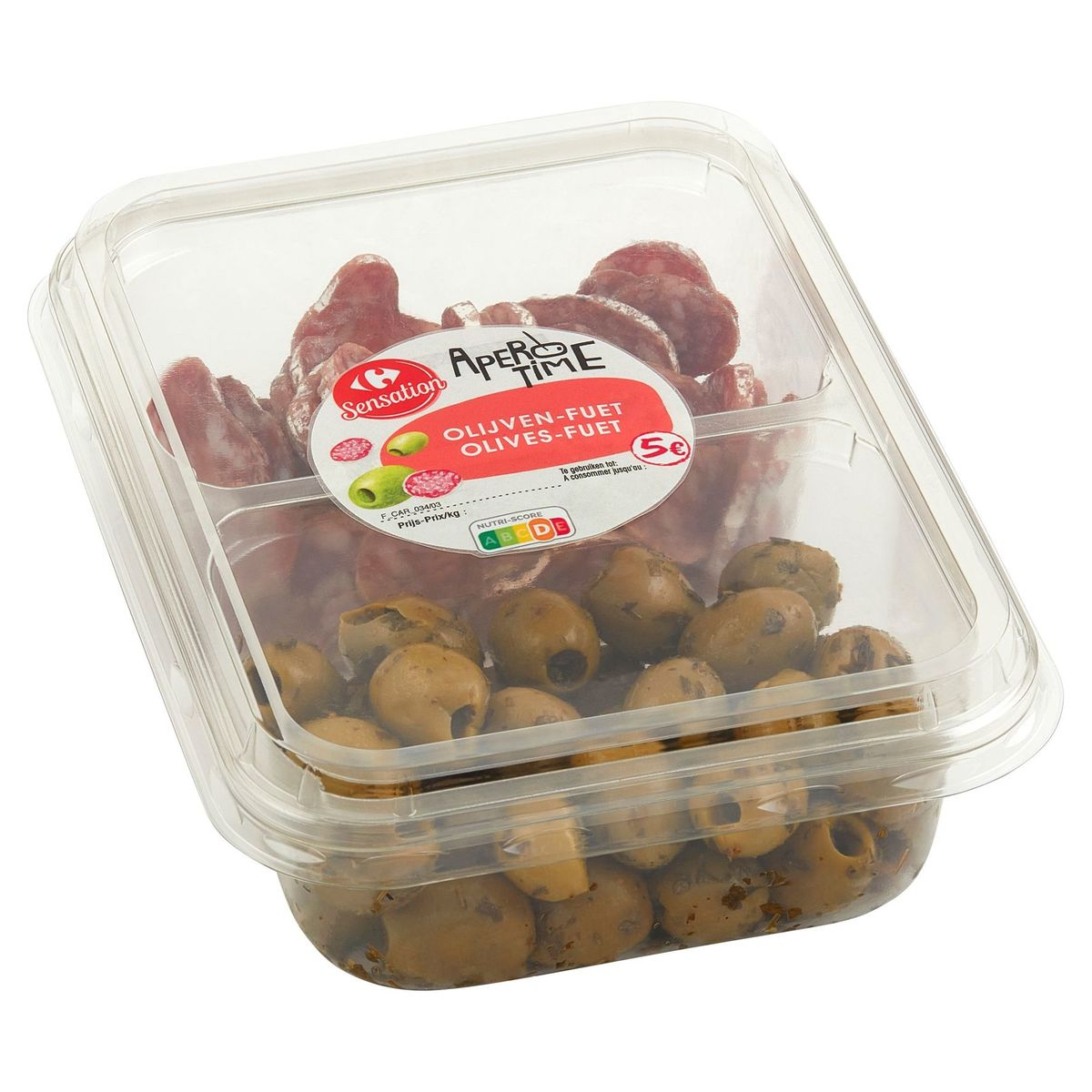 Carrefour Apero Time Duopack Olives-Fuet 240 g