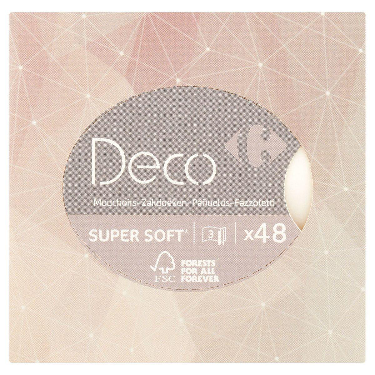 Carrefour Deco Super Soft Zakdoeken 3-Laagjes 48 Stuks