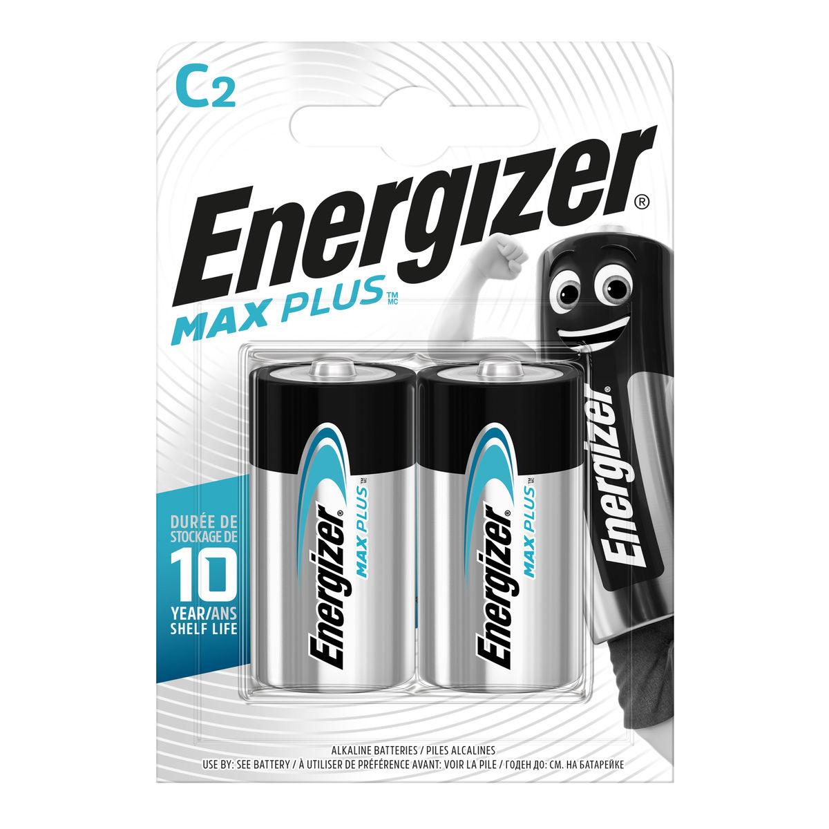 Energizer Max Plus Piles Alcalines C 2 pièces