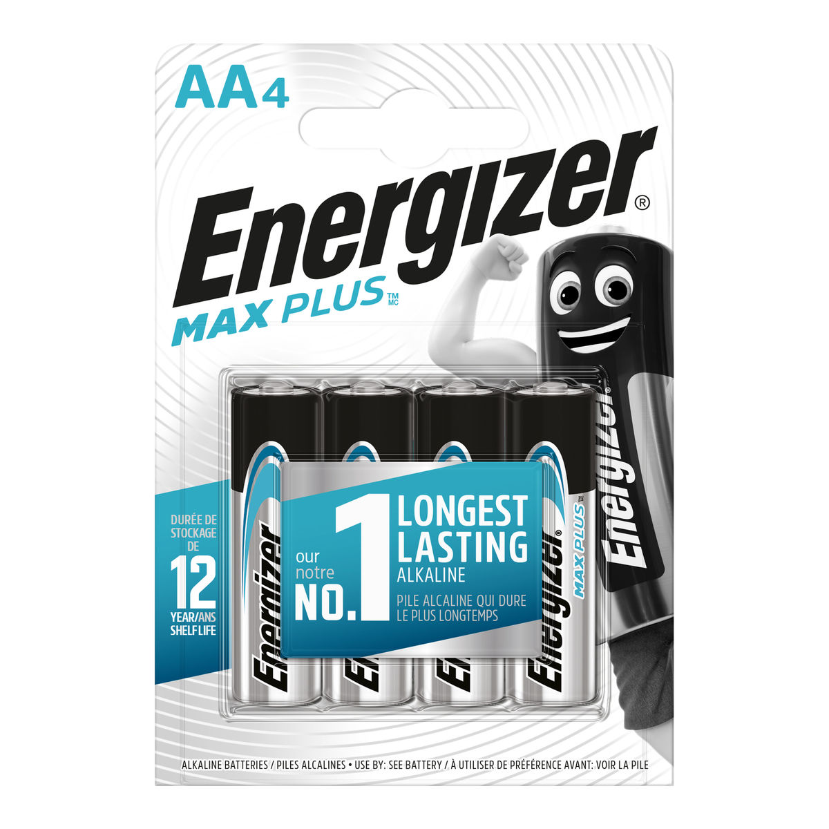 Energizer Max Plus Piles Alcalines AA 4 pièces