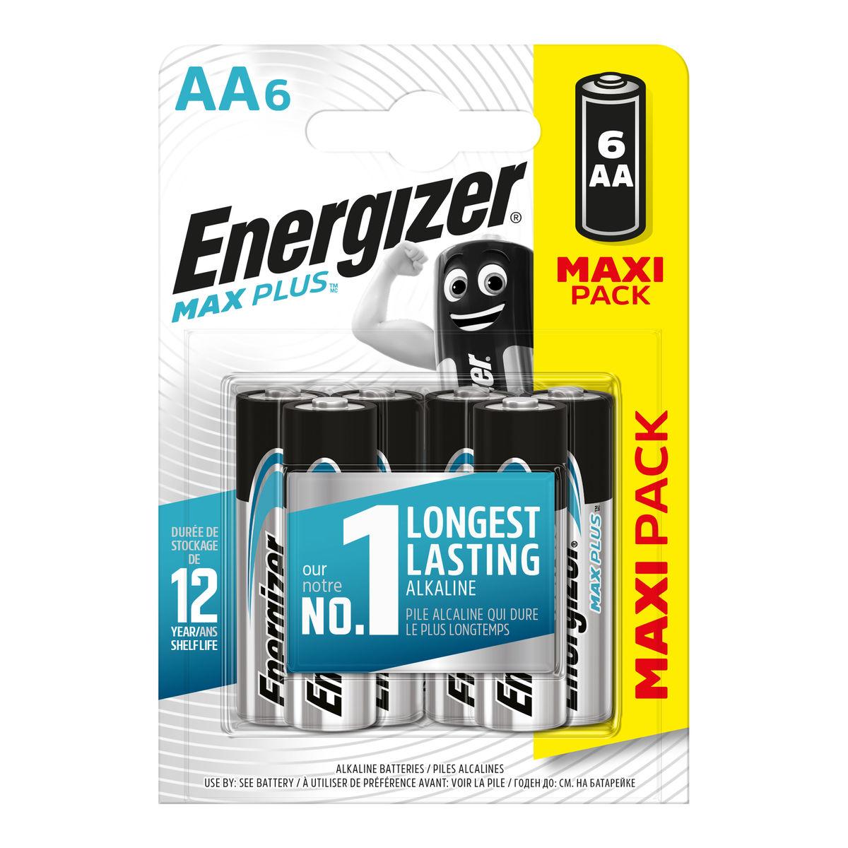 Energizer Max Plus Piles Alcalines AA 6 pièces