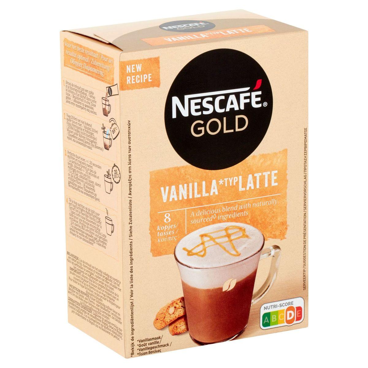 NESCAFE Café GOLD Vanilla Latte Sachets 148g