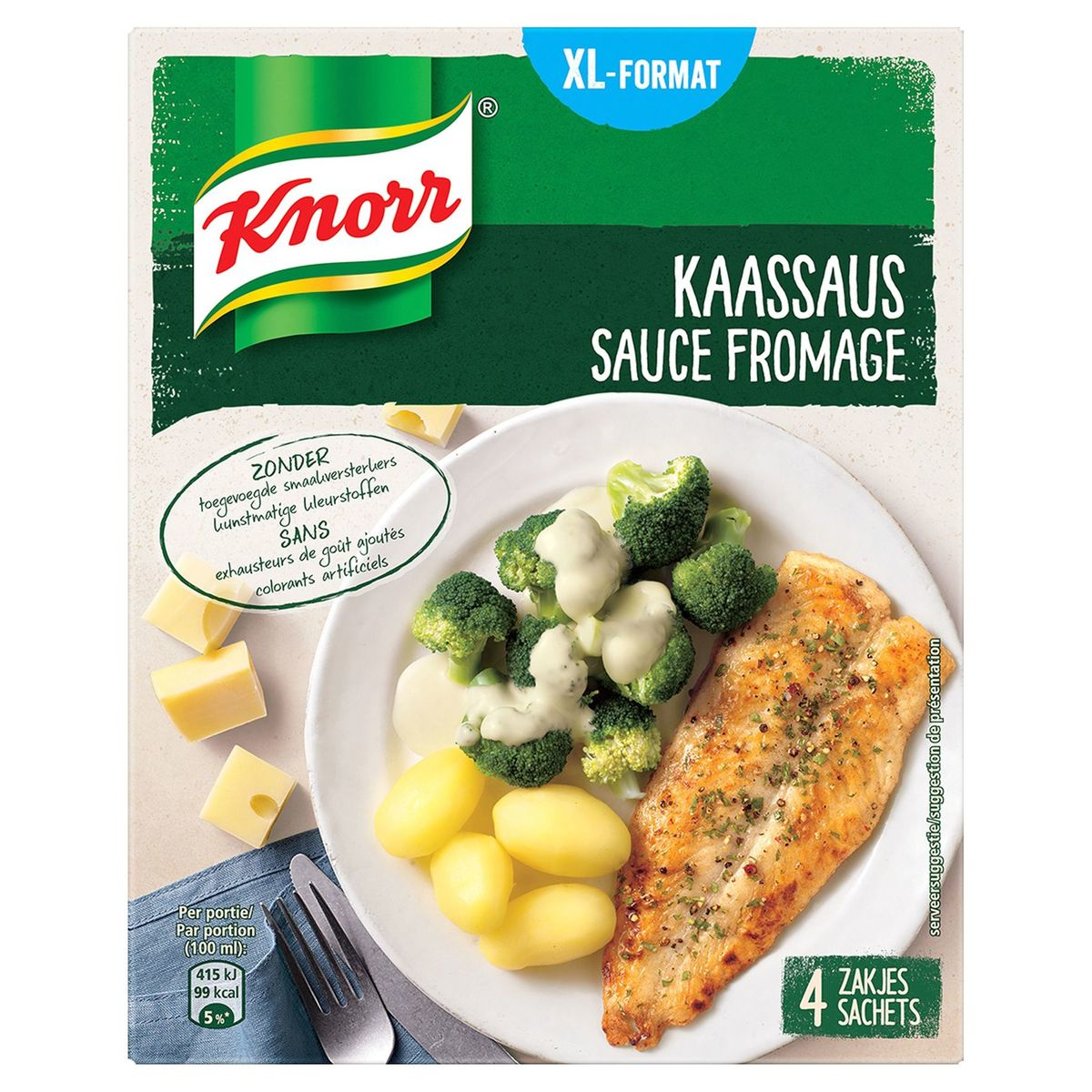Knorr Sauces Déshydratées Fromage 4 x 28 g