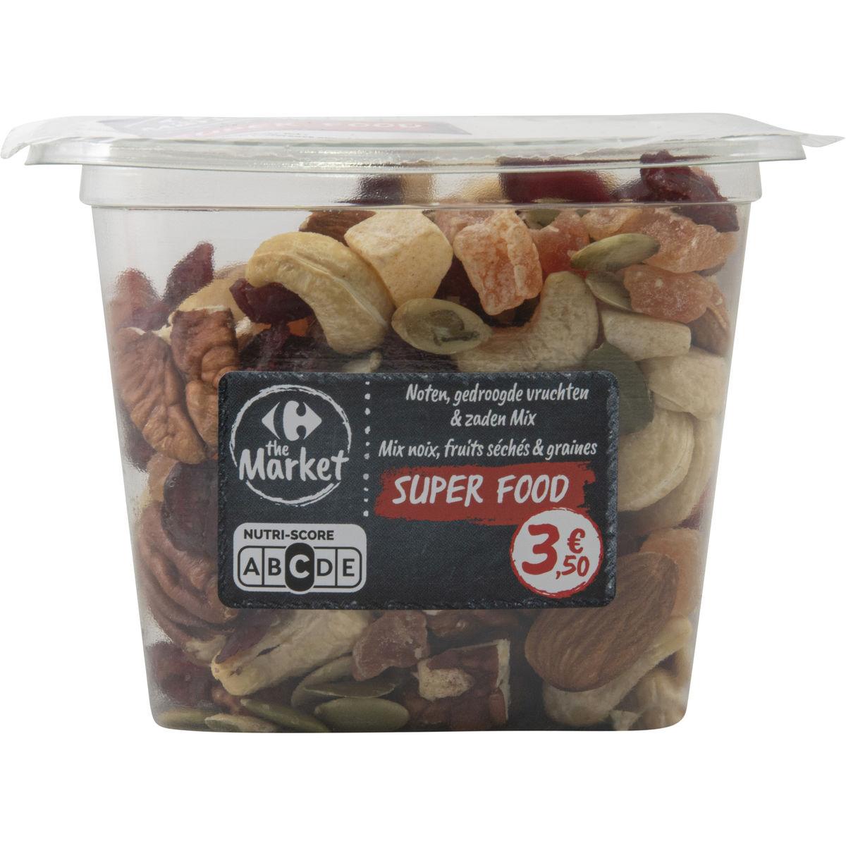 Carrefour Super Food Nuts & Fruits Mix Noix, Fruits & Graines 200 g