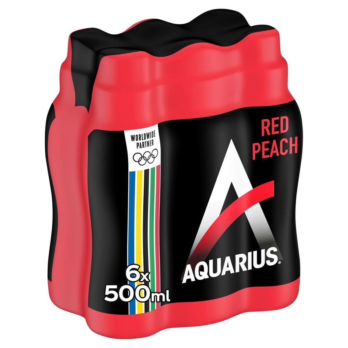 Aquarius Red Peach 6 x 500 ml