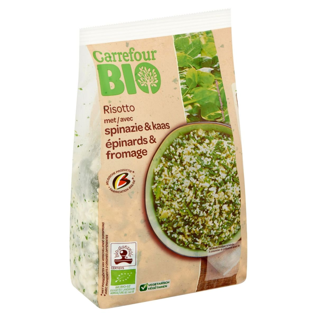 Carrefour Bio Risotto met Spinazie & Kaas 600 g