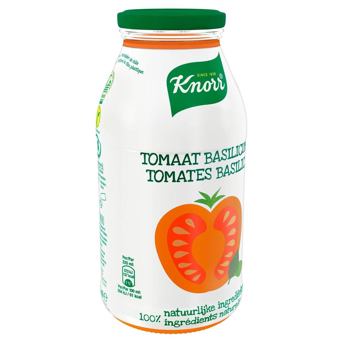 Knorr Fles Soep Tomaat Basilicum 450 ml