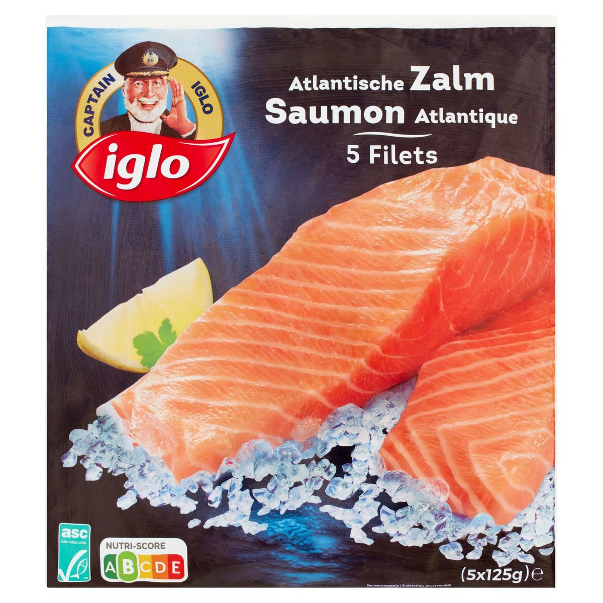 Captain Iglo 5 Filets de Saumon Atlantique 625 g