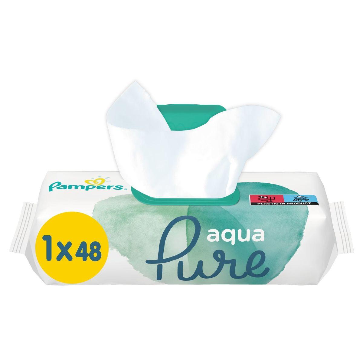 Pampers Aqua Pure Lingettes Pour Bébé 1Packs = 48Lingettes