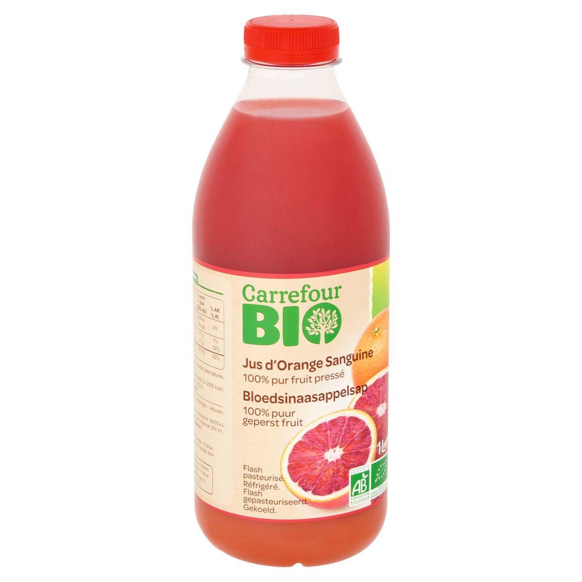 Carrefour Bio Bloedsinaasappelsap 1 L