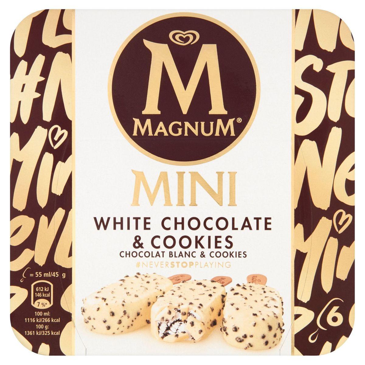 Magnum Ola Ijs Multipack White Chocolate & Cookies 6 x 55 ml