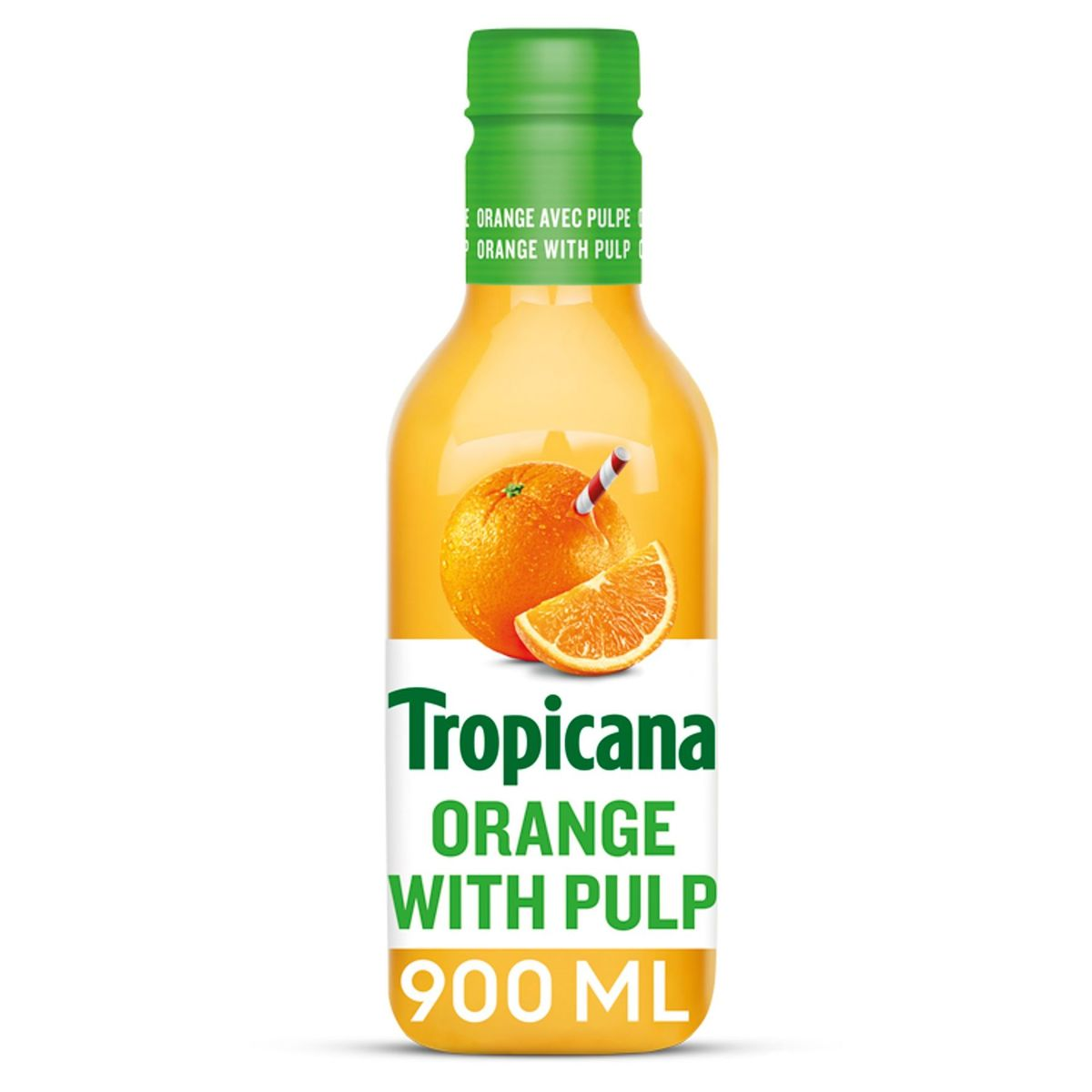 Tropicana Sinaasappelsap Met Pulp Vers Fruit 90 cl