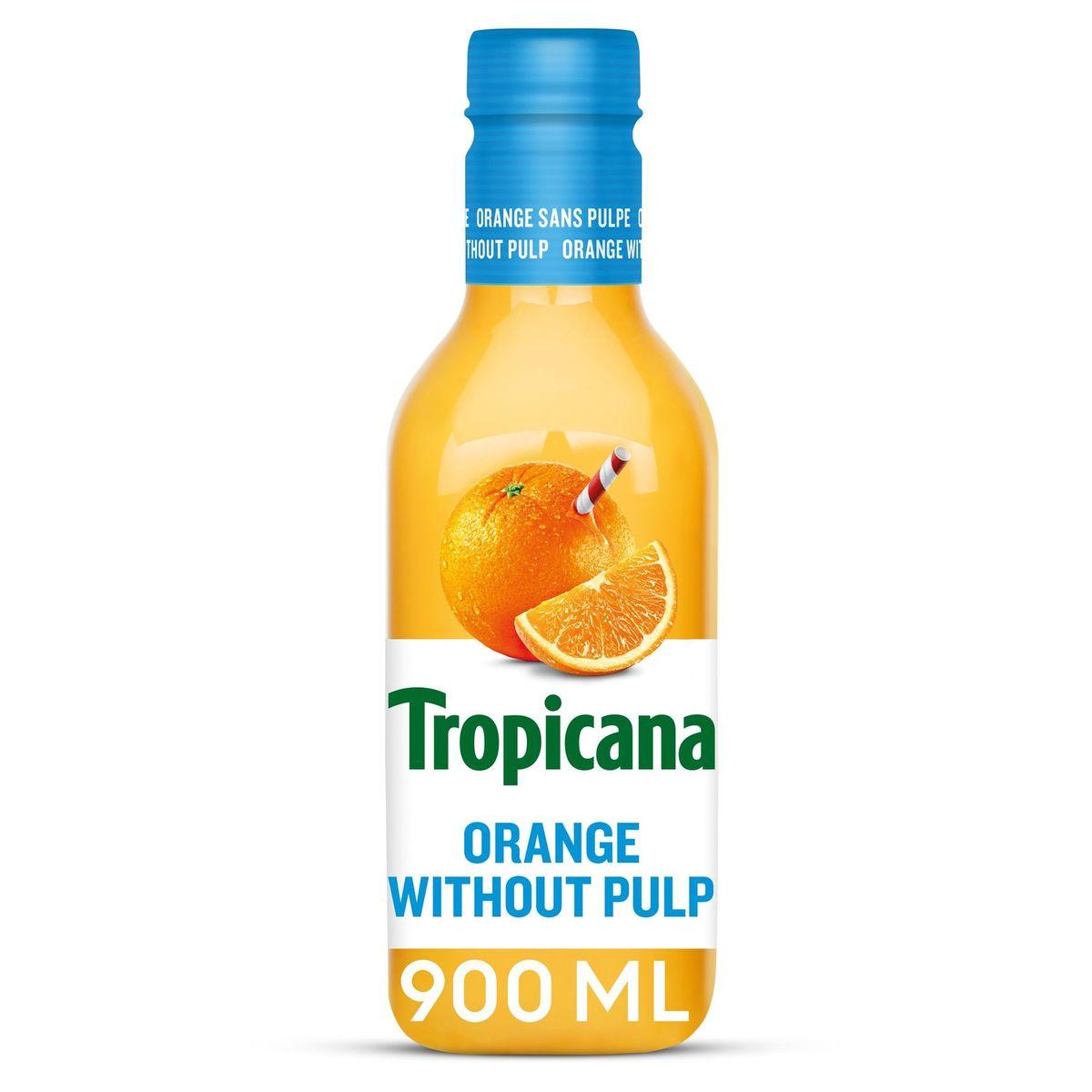 Tropicana Sinaasappelsap Zonder Pulp Vers Fruitsap 90 cl