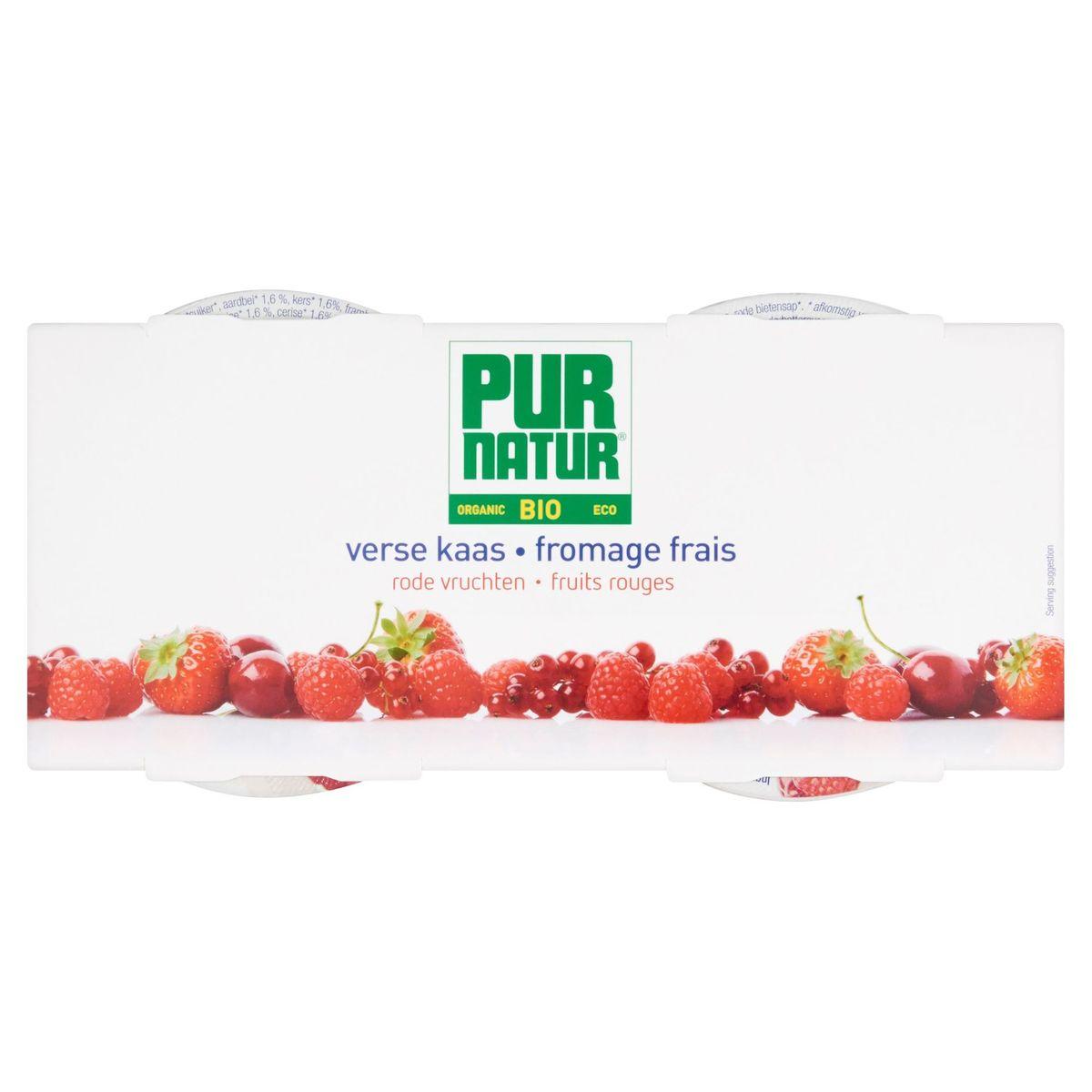Pur Natur Bio Fromage Frais Fruits Rouges 2 x 150 g