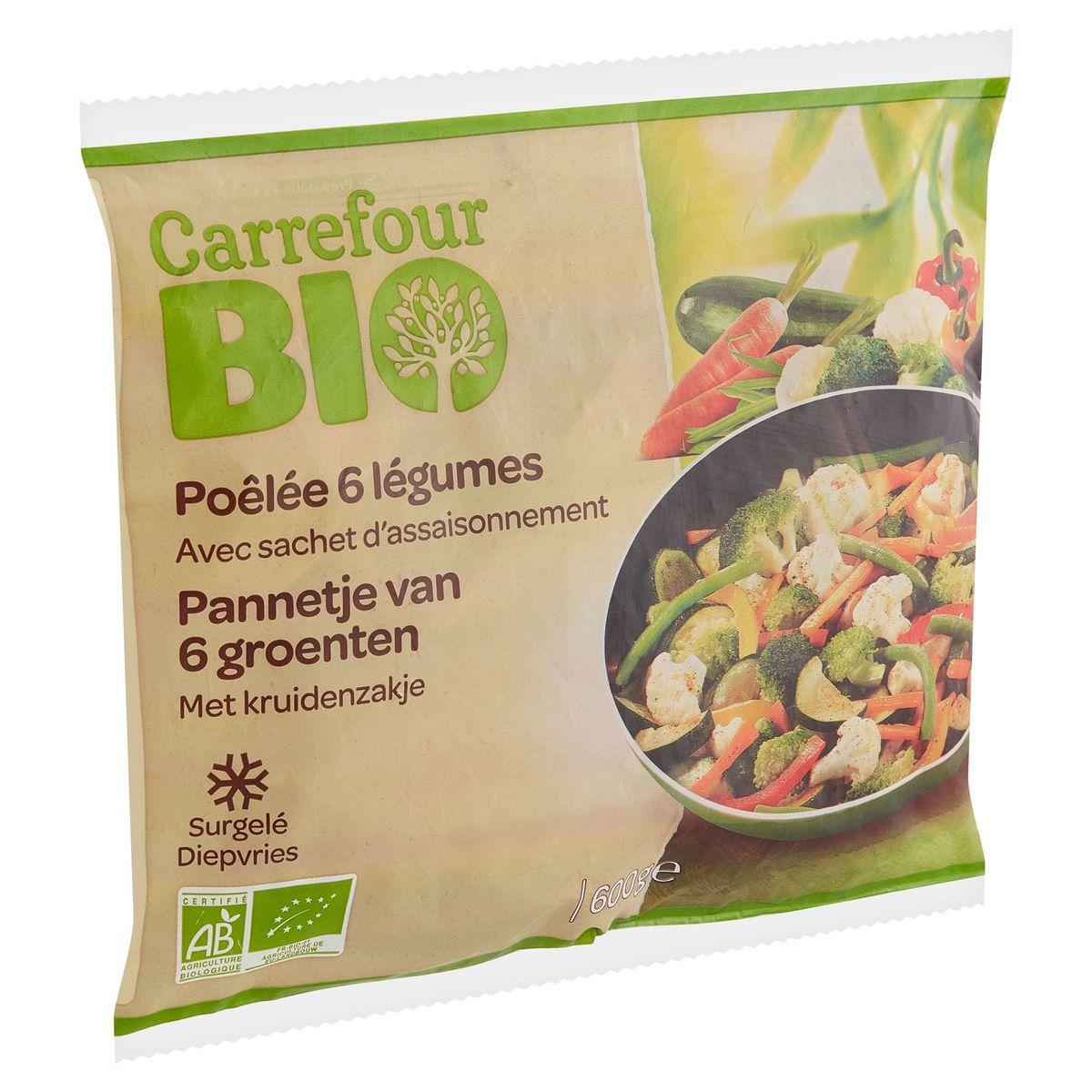 Carrefour Bio Pannetje van 6 Groenten met Kruidenzakje 600 g
