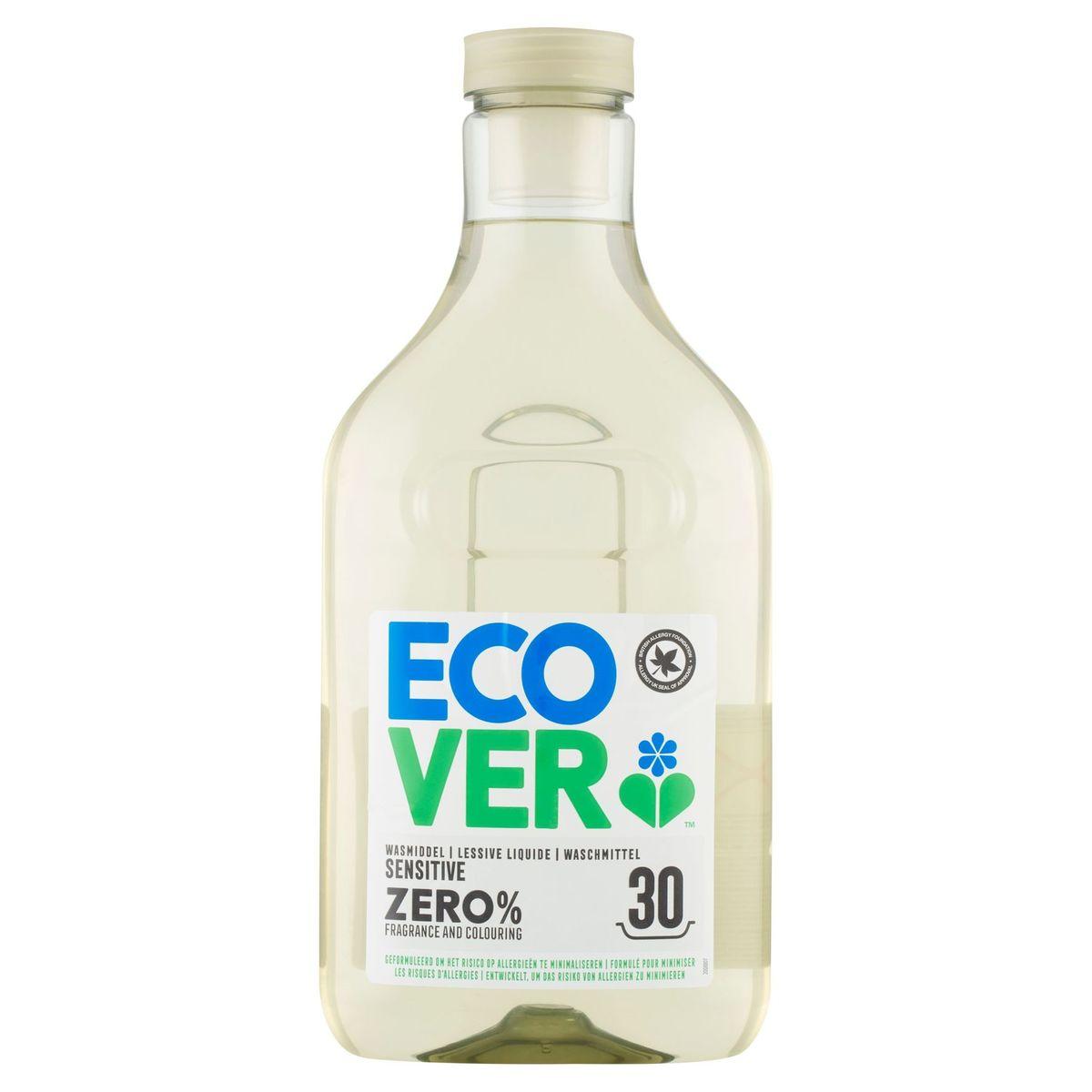 Ecover Lessive Liquide Zero Sensitive 1.5 L 30 Lavages