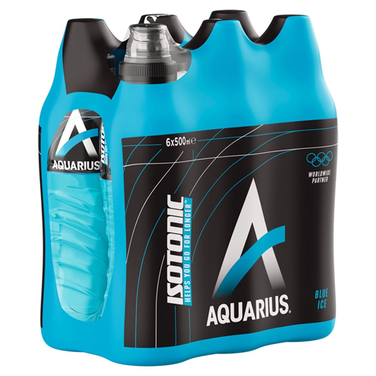 Aquarius Isotonic Blue Ice Pet 6 x 0.50 L