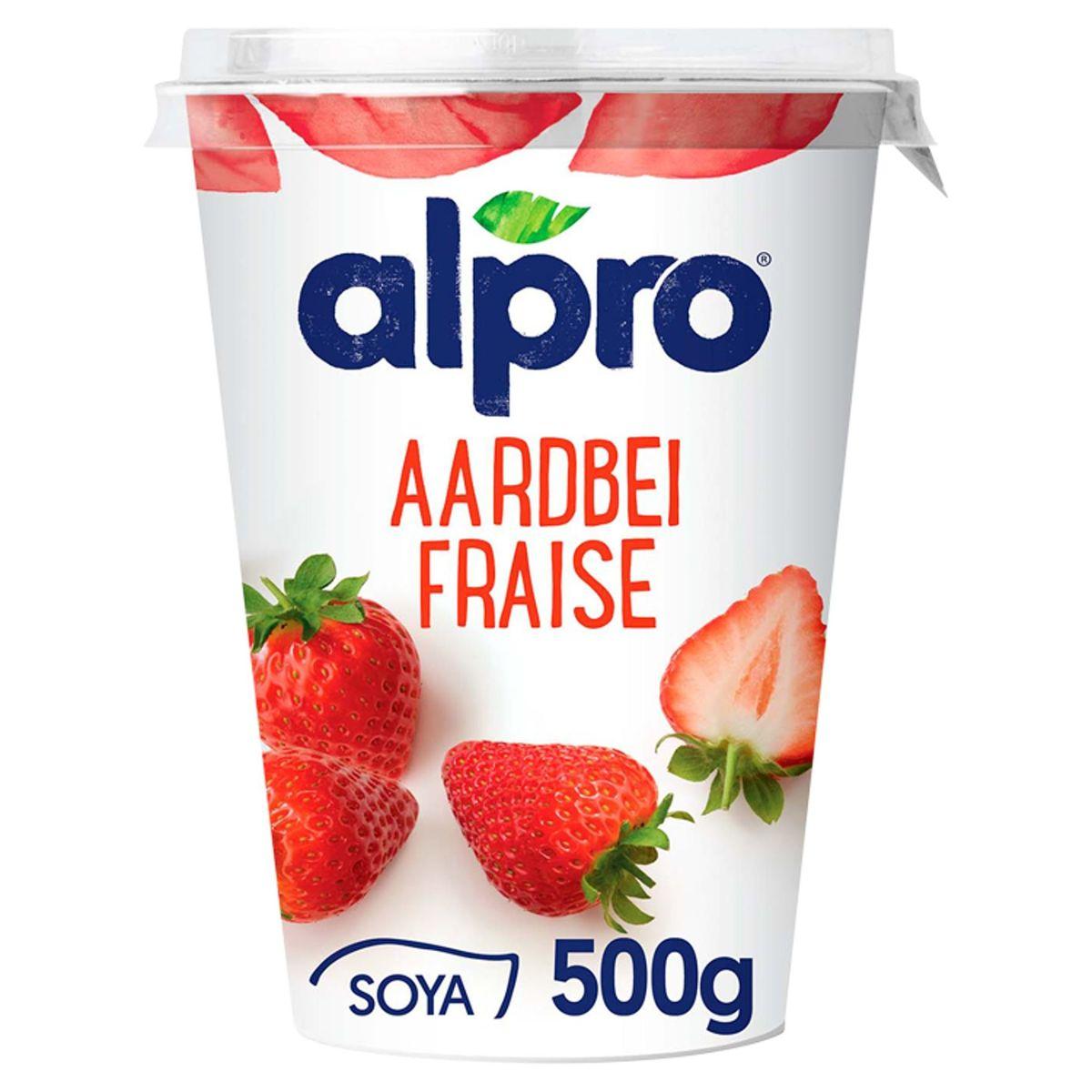 Alpro Aardbei Plantaardig Alternatief voor Yoghurt 500 g