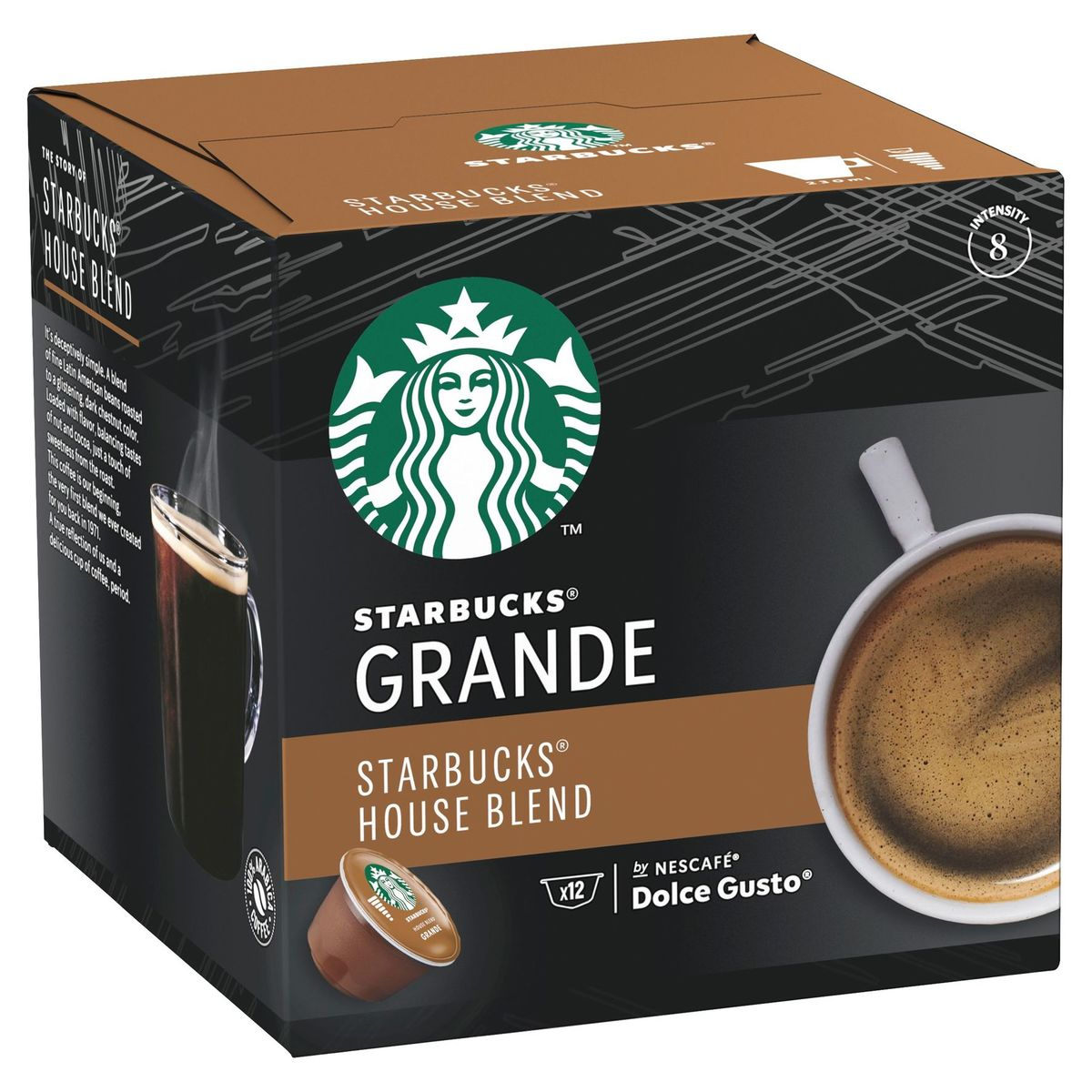 STARBUCKS House Blend by NESCAFE DOLCE GUSTO Ambrée 12 Capsules