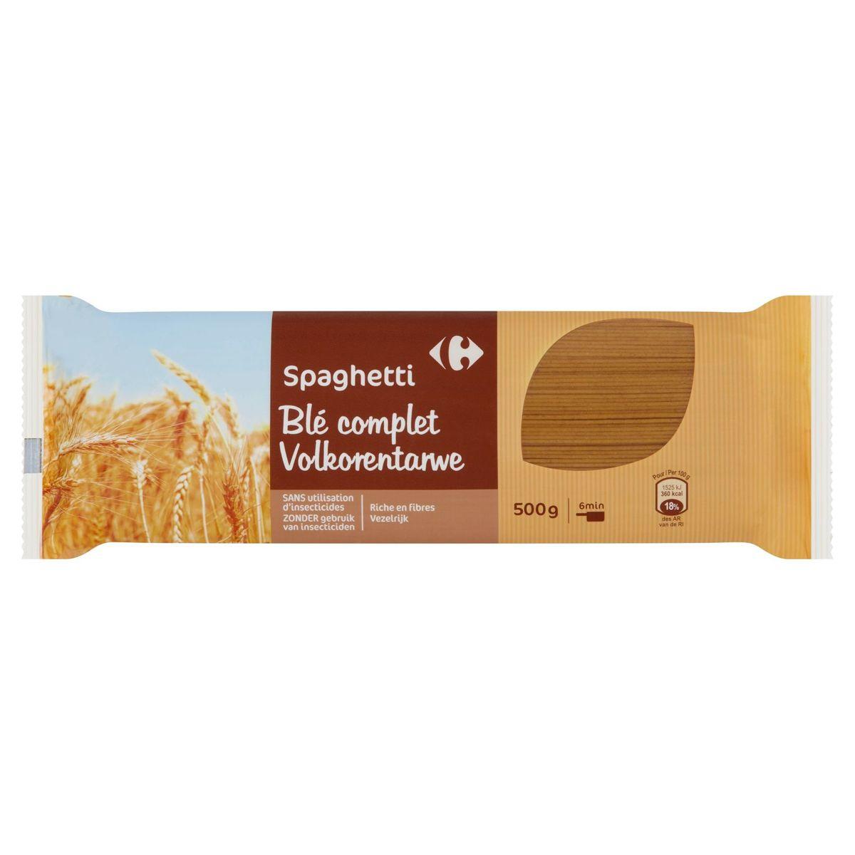 Carrefour Spaghetti Volkorentarwe 500 g