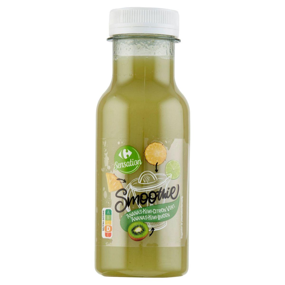 Carrefour Sensation Smoothie Ananas-Kiwi-Limoen 250 ml