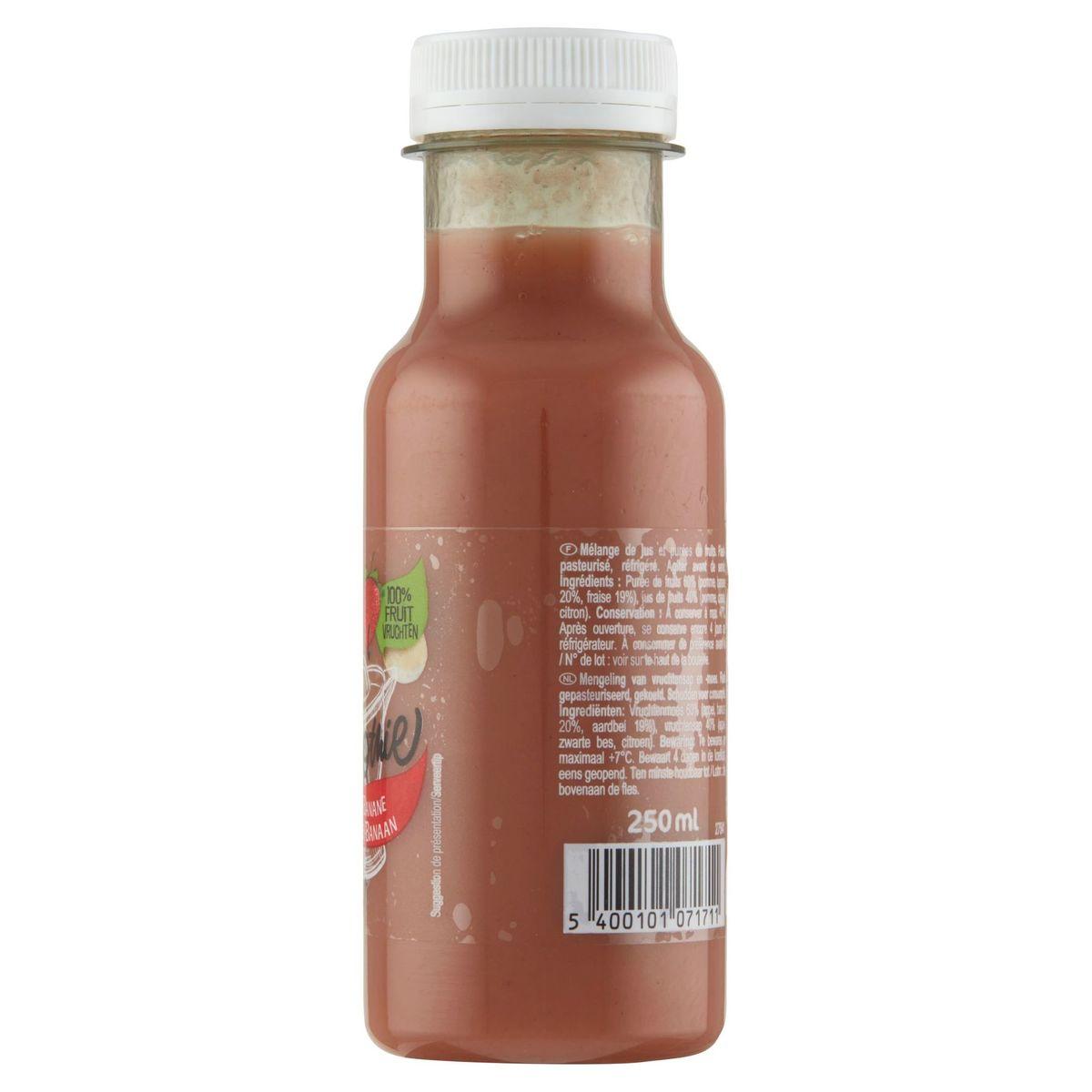 Carrefour Sensation Smoothie Aardbei-Banaan 250 ml