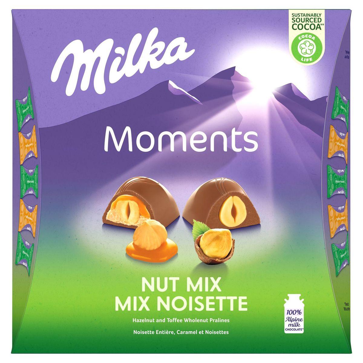 Milka Moments Nut Mix Toffee Wholenut Whole Hazelnuts 169 g