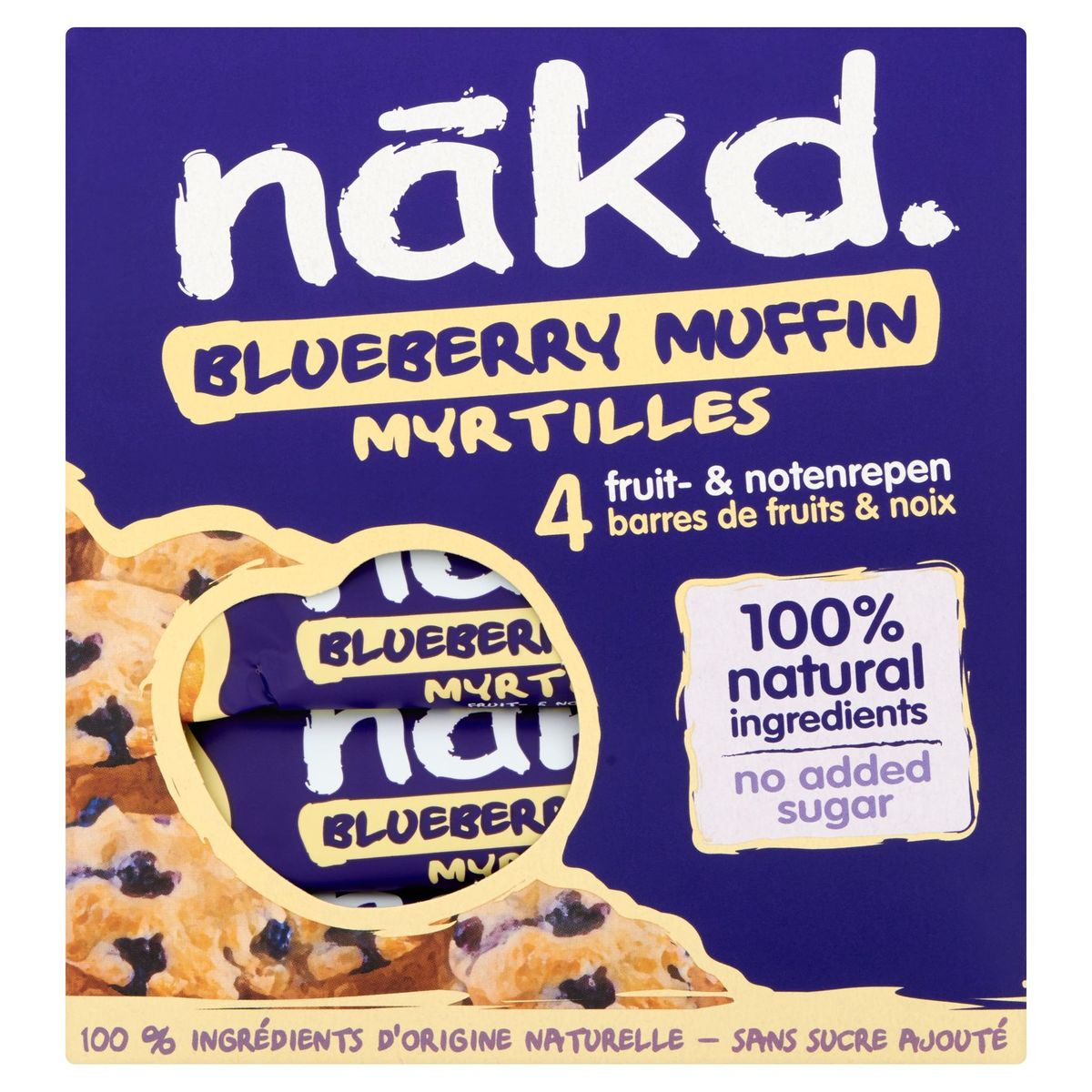 Nākd Blueberry Muffin 4 x 35 g