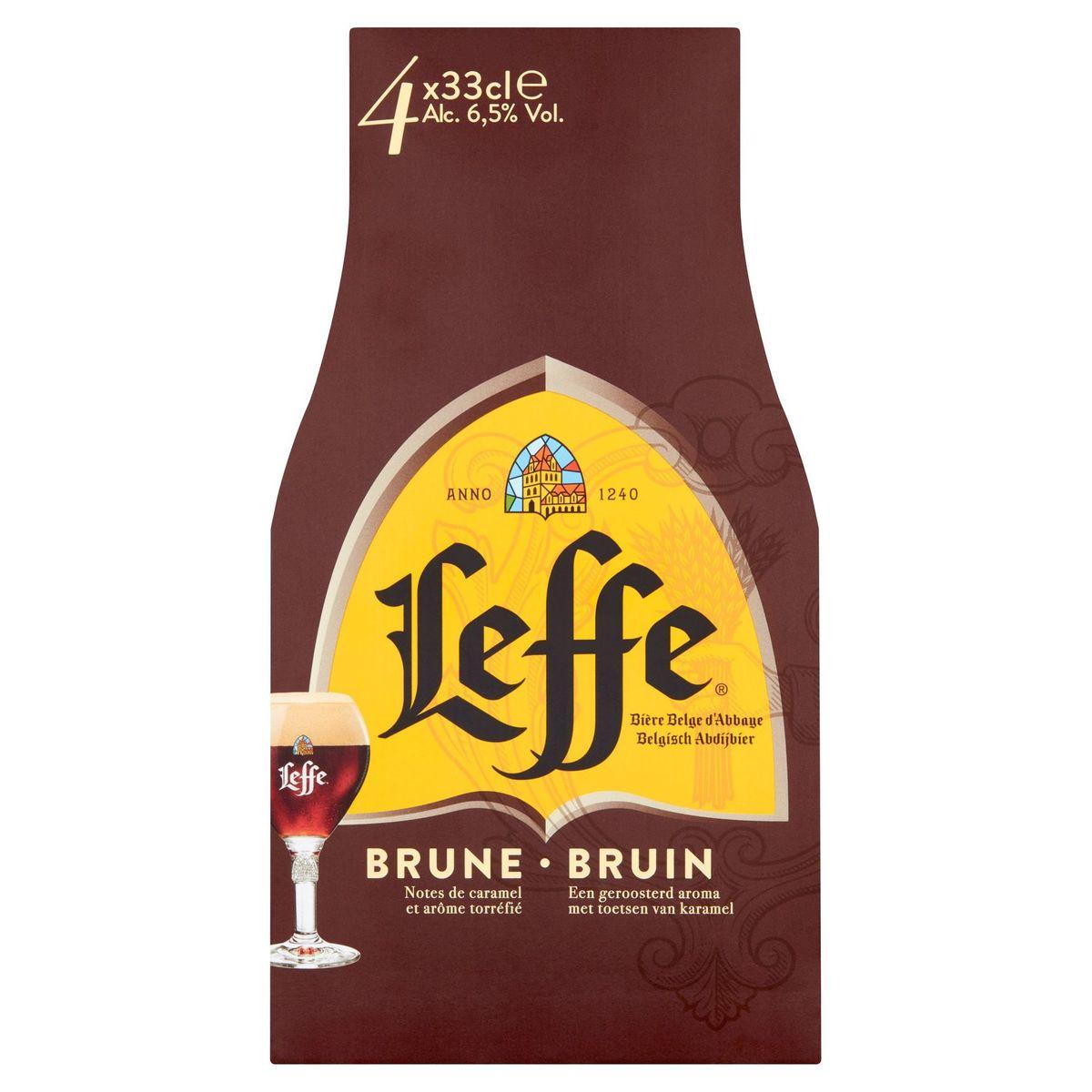 Leffe Belgisch Abdijbier Bruin Flessen 4 x 33 cl