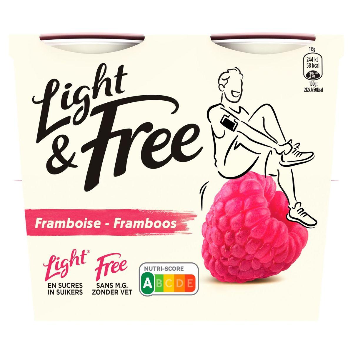 Light & Free Melkspecialiteit Framboos 4 x 115 g