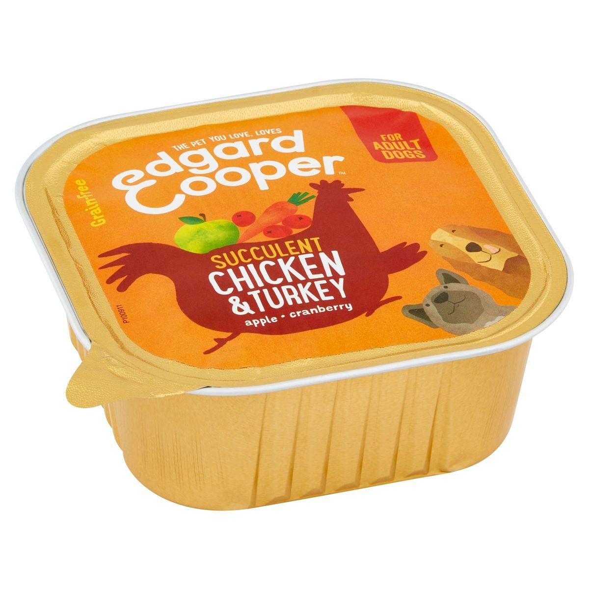 Edgard & Cooper Succulent Chicken & Turkey Apple Cranberry 300 g