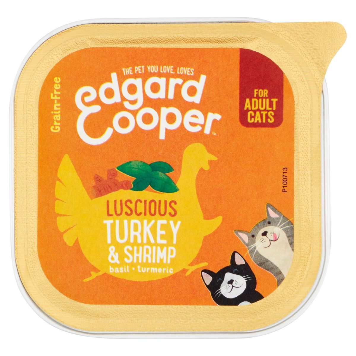 Edgard & Cooper Luscious Turkey & Shrimp Basil Turmeric 85 g