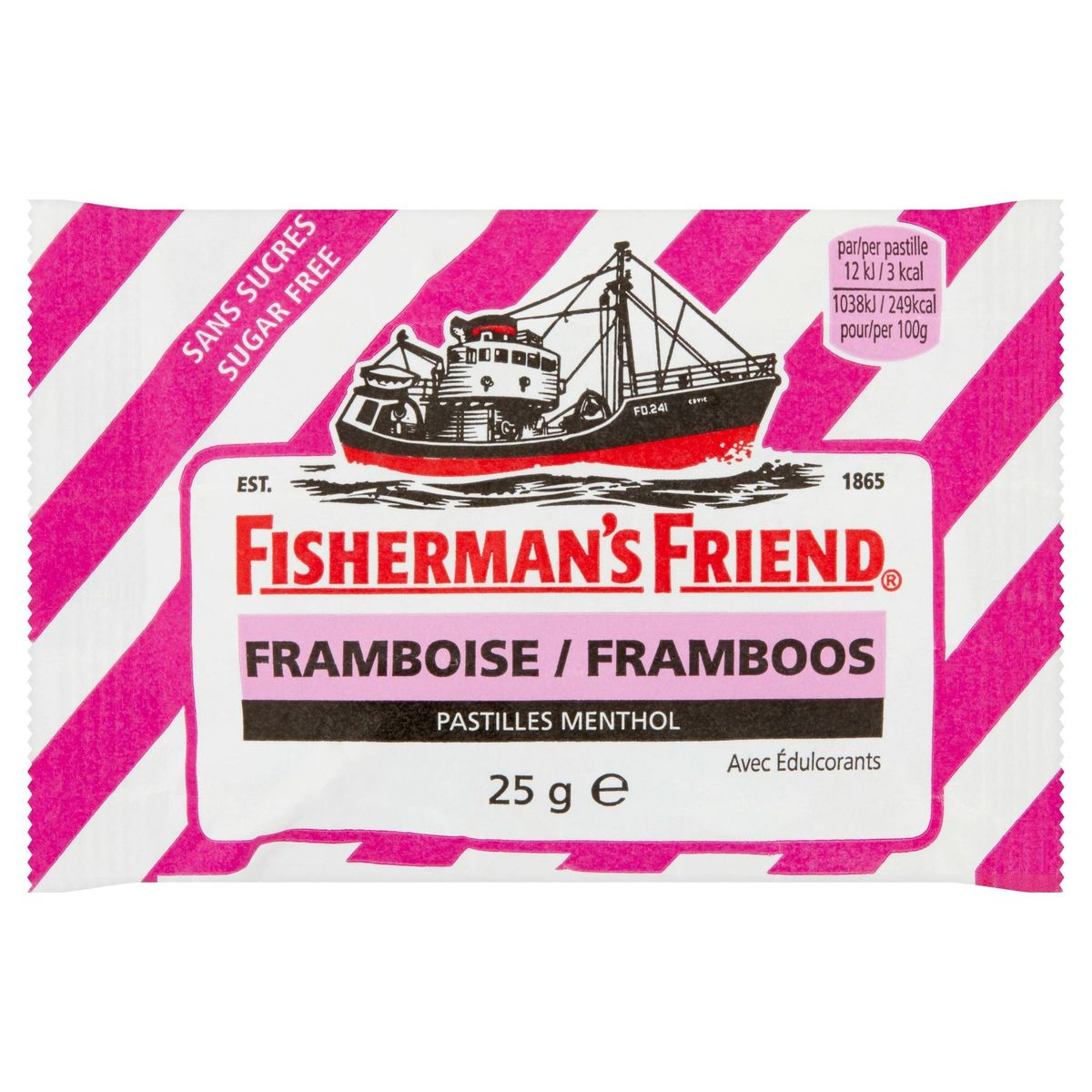 Fisherman's Friend Framboos Pastilles Menthol 25 g