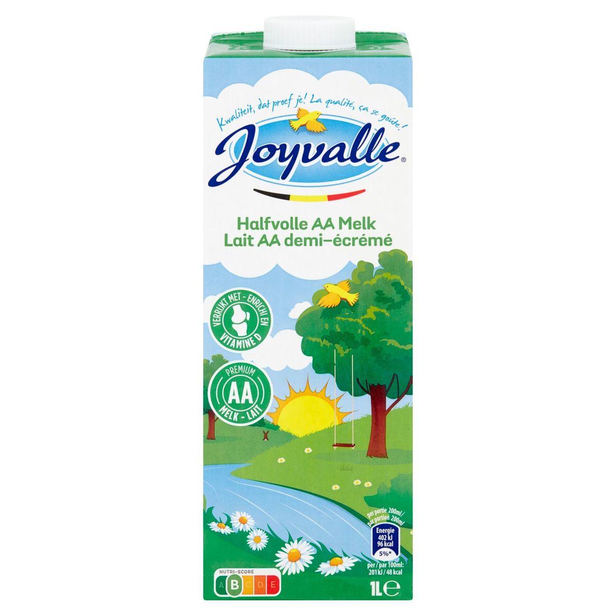 Joyvalle Lait AA Demi-Écrémé 1 L