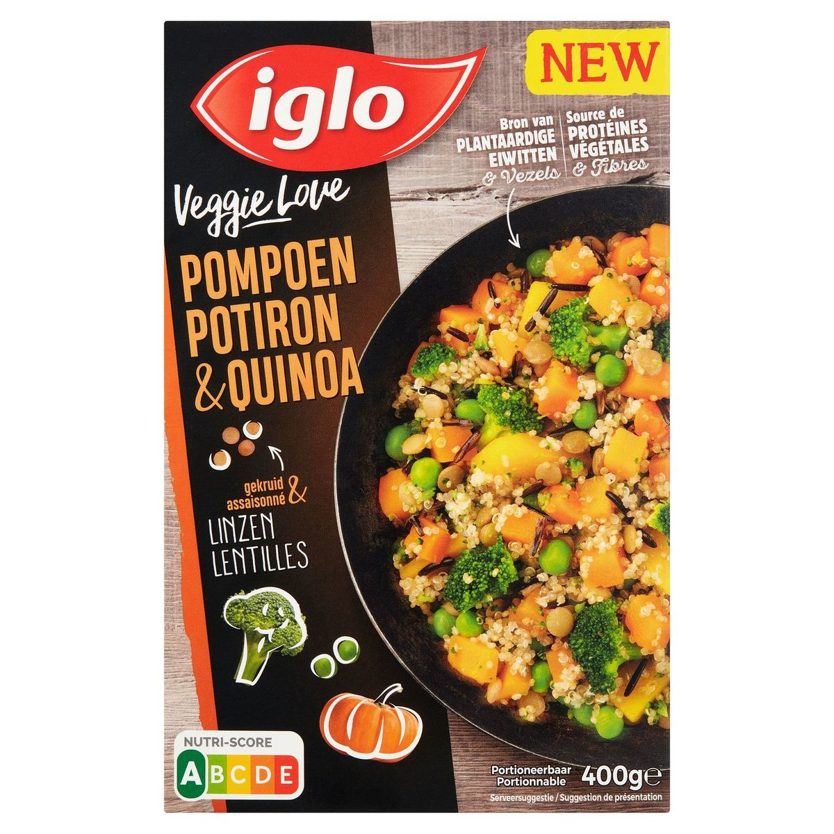 Iglo Veggie Love Pompoen & Quinoa 400 g